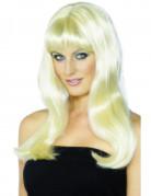 Lange, blonde, gewellte Per�cke