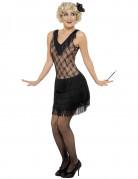 Black flapper costume for women