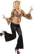 Pantal�n de campana estilo disco para mujer