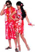 Disfraz de pareja de hawaianos