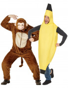 D�guisement couple singe et banane adulte