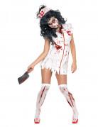 Zombiekrankenschwester-Kost�m f�r Damen zu Halloween