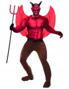 Disfraz de diablo de lujo para hombre, ideal para Halloween