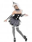 Sexy Pierrot-Kost�m Halloween f�r Damen