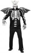 Skelettartiger D�mon-Kost�m Halloween f�r Erwachsene