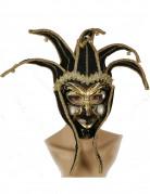 Masque vénitien arlequin noir