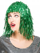 Peluca verde para mujer, ideal para Saint Patrick