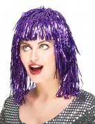 Peluca met�lica violeta para mujer