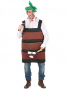 Wine barrel costume for men