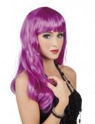 Peluca larga violeta para mujer