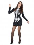 Skelett-Kost�m Halloween f�r Damen