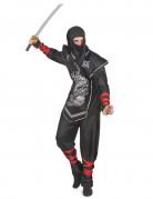 Ninjakost�m silber f�r Herren
