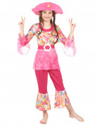 D�guisement hippie rose fille