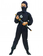 Black , Ninja Commando costume for boys.