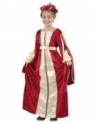 Medieval queen costume for girls