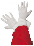 Gants blancs P�re No�l adulte