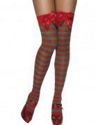 Vous aimerez aussi : Bas ray�s rouge et vert elfe femme No�l