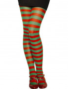 Vous aimerez aussi : Collants ray�s rouge et vert femme