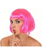 Peluca corta rosa para mujer