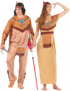 Red Indian costume for couples
