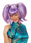 Peluca violeta china para mujer