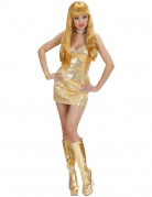 Goldenes Disco-Kleid f�r Damen