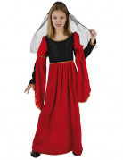 Red medieval princess dress for girls