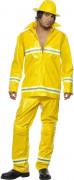 D�guisement pompier homme jaune