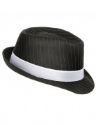 Chapeau gangster noir ray�  adulte
