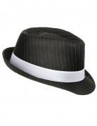 Chapeau gangster noir ray�  adulte