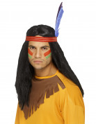 Red Indian wig for men