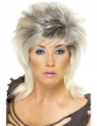 Perruque rock blonde femme