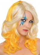 Perruque Lady Gaga� blonde et jaune femme