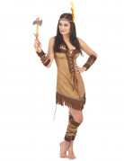 Deluxe red Indian costume for women.