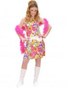 Costume hippie rosa ragazza Genova