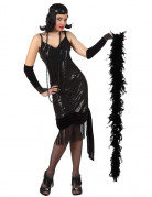 Disfraz negro de charlest�n para mujer