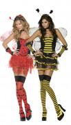 Disfraz de pareja de mariquita y abeja