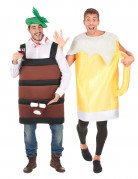 Beer mug and Barrel costumes for couple