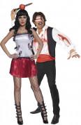 Disfraz de pareja de lanzador de cuchillos y su asistente, ideal para Halloween