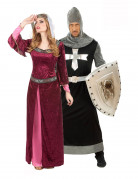 Medieval Queen and Knight costumes for couple