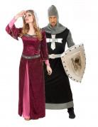 D�guisement couple reine et chevalier m�di�val