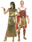 Cleopatra  and Roman emperor costumes for couple