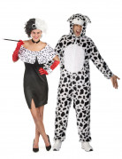 Cruella and his dalmatian costumes for couple