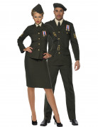 Disfraz de pareja de oficiales militares