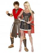 Disfraz de pareja de gladiadores romanos
