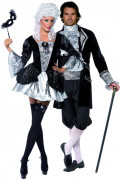 D�guisement couple baroque vampires Halloween