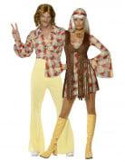Disfraz de pareja de hippies de los a�os 60