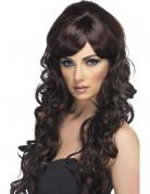 Vous aimerez aussi : Perruque glamour longue ch�tain avec boucles femme