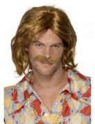 Peluca y bigote estilo retro para hombre