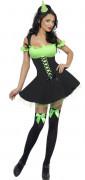 D�guisement sorci�re sexy verte femme Halloween